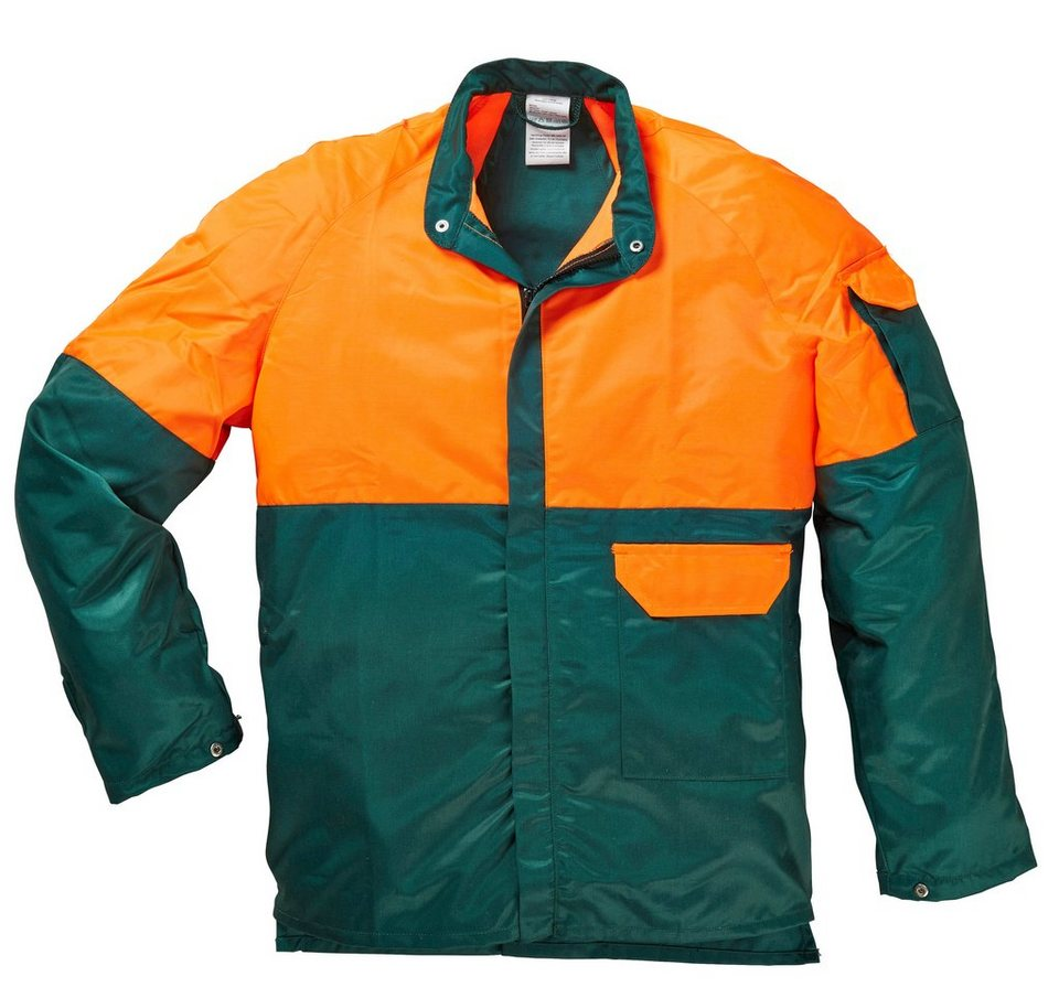 Forstjacke in grün/orange