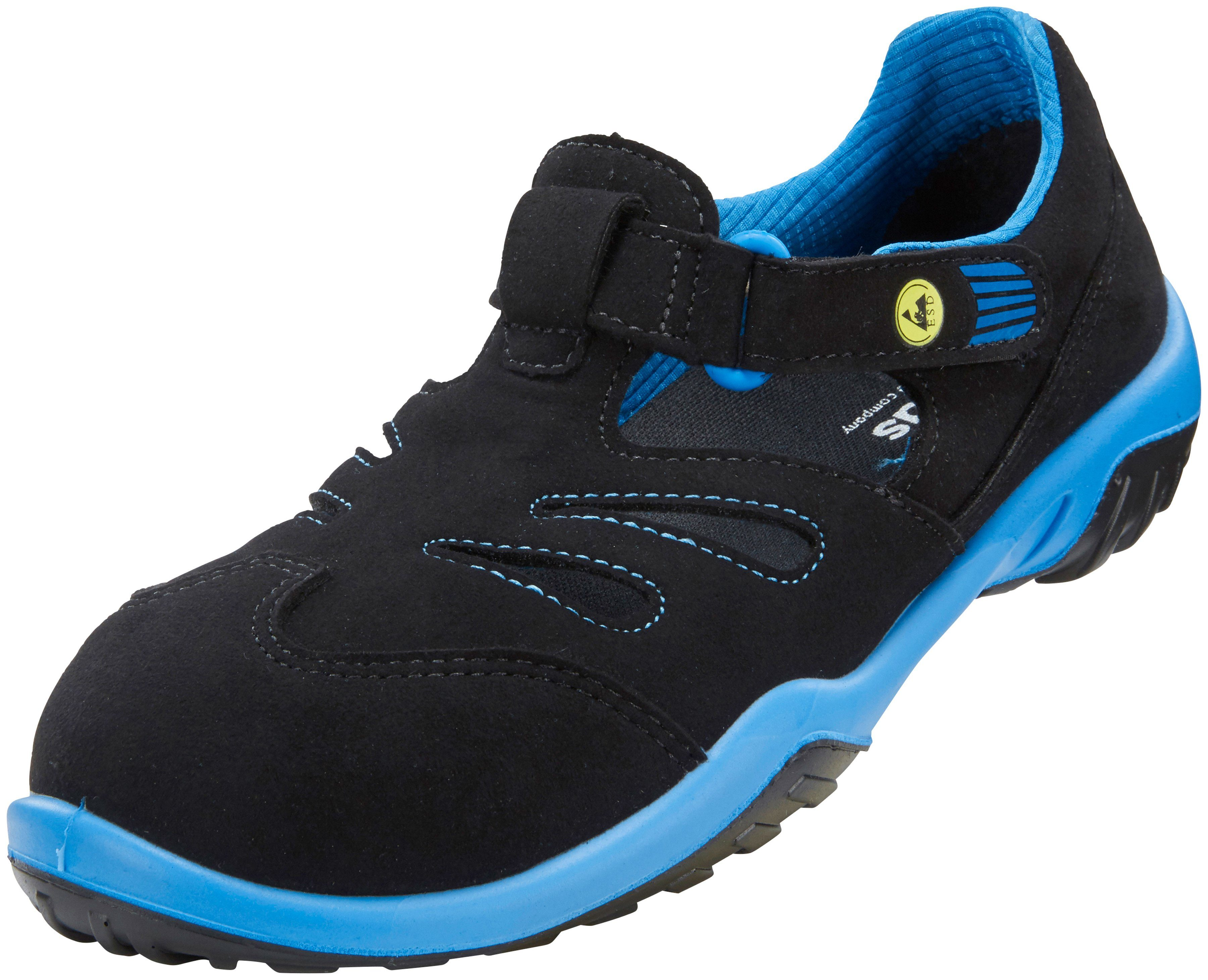 Atlas Schuhe Atlas Damen-Sicherheitssandale »GX 350 black«, schwarz, schwarz/blau