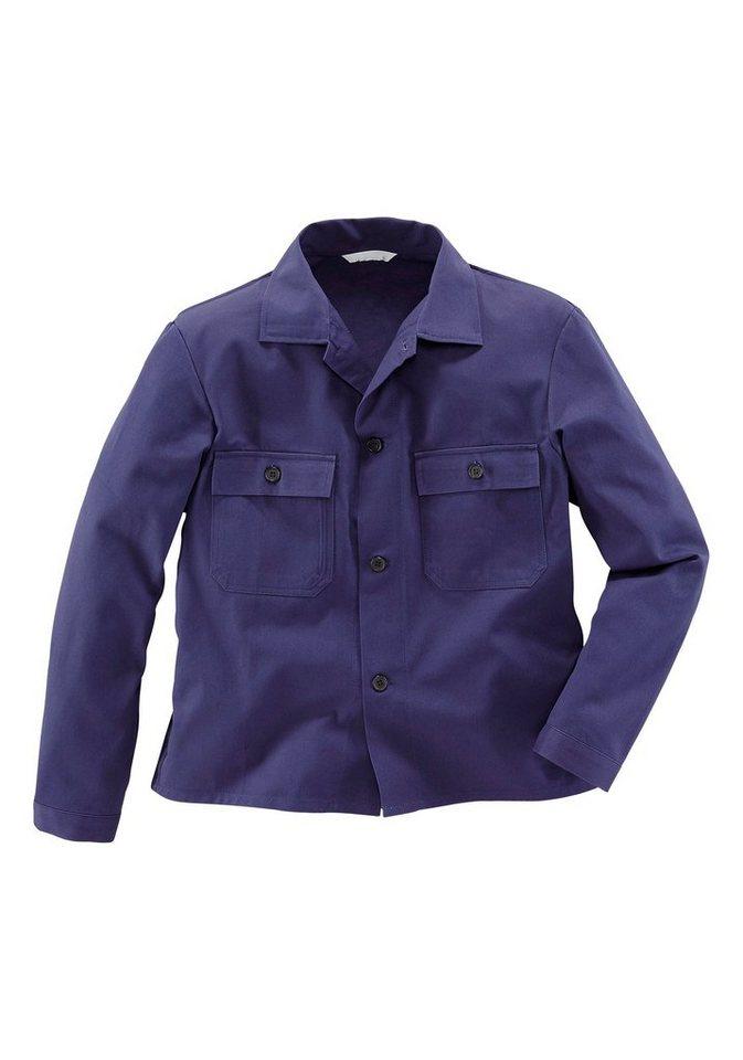 Arbeitsjacke 2er Set aus 100% Baumwolle  in dunkelblau