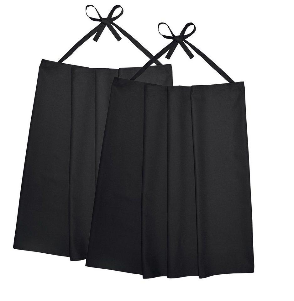Schürze »Bistro 2er Pack« in schwarz