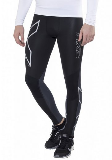 2xU Laufhose G2 Wind Defence Thermal Compression Tights Men
