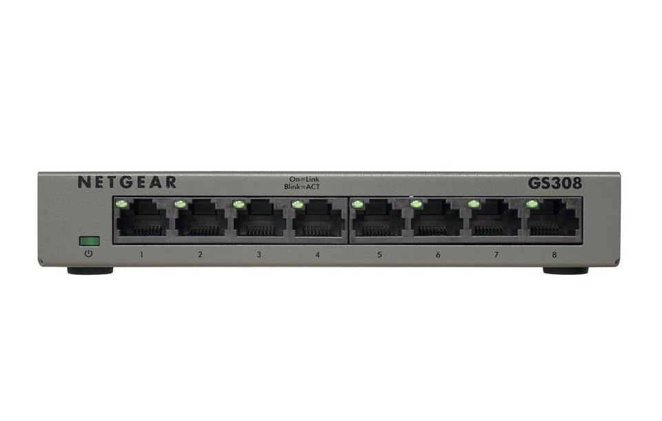 Netgear Switch »GS308 8-Port GB Switch lüfterlos«