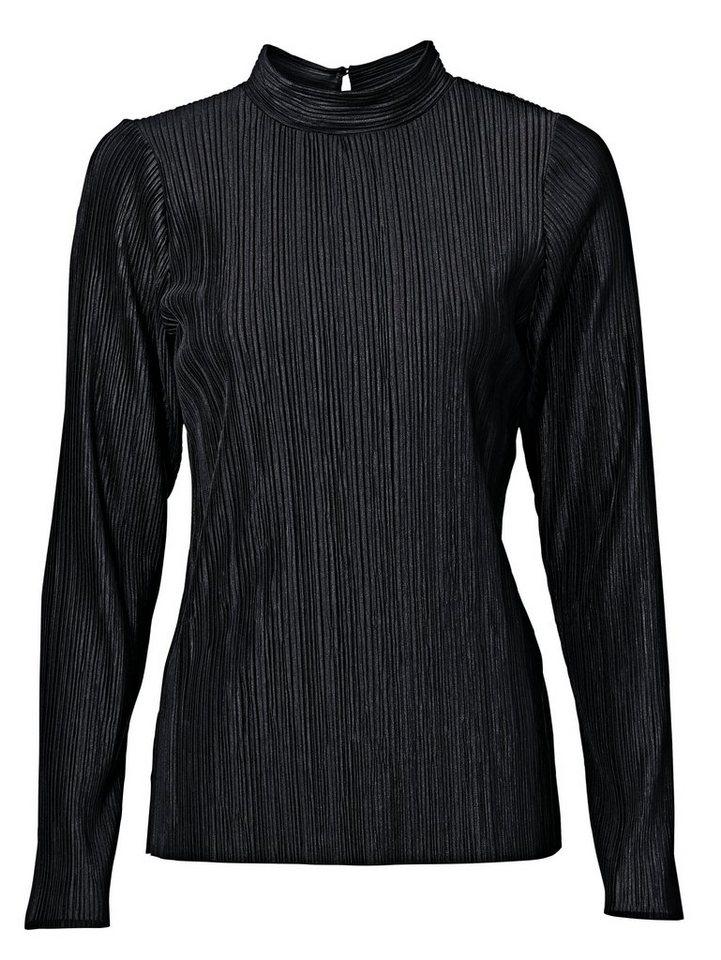 RICK CARDONA by Heine Plissee-Shirt mit Glanz-Effekt