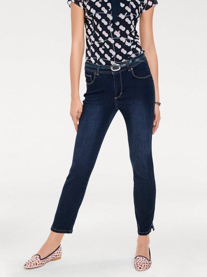Bodyform-7/8-Jeans in dark denim