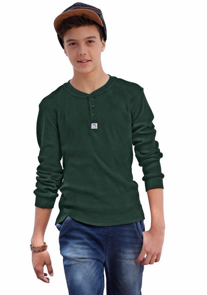 CFL Langarmshirt aus Rippware in flaschengrün