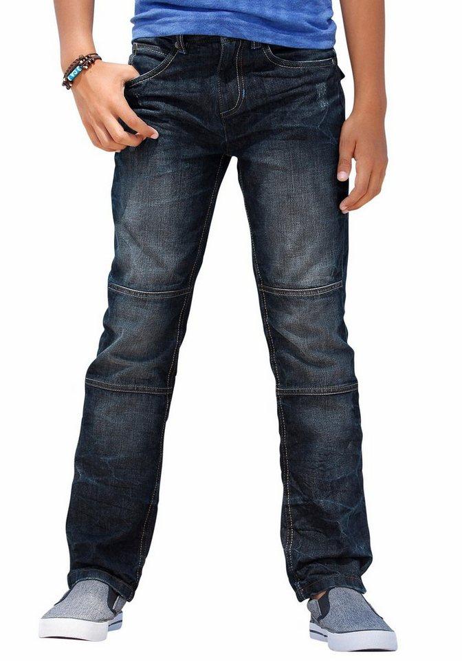 Buffalo Regular-fit-Jeans mit geradem Bein in dark-denim