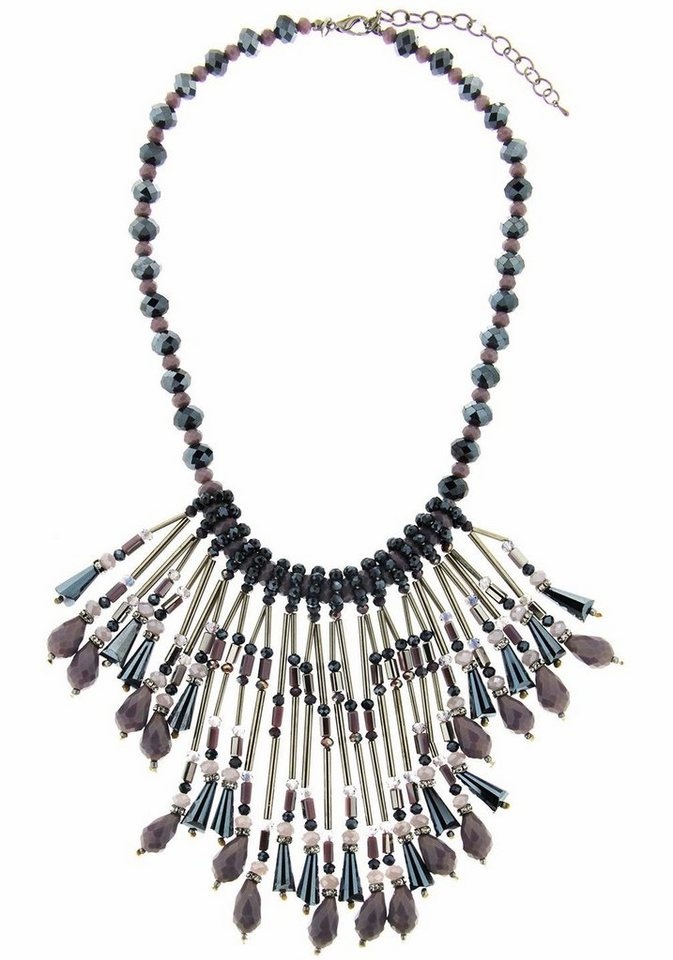 Sweet Deluxe Collier »Anissa, 5899« mit Glassteinen in silberfarben-lila