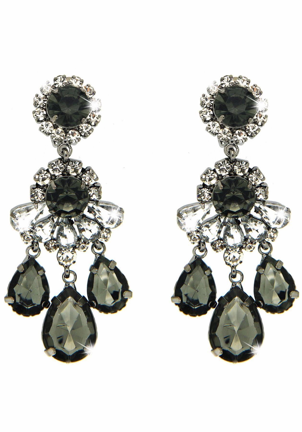 Sweet Deluxe Paar Ohrclips »Burgas I, 3959«, mit Glassteinen