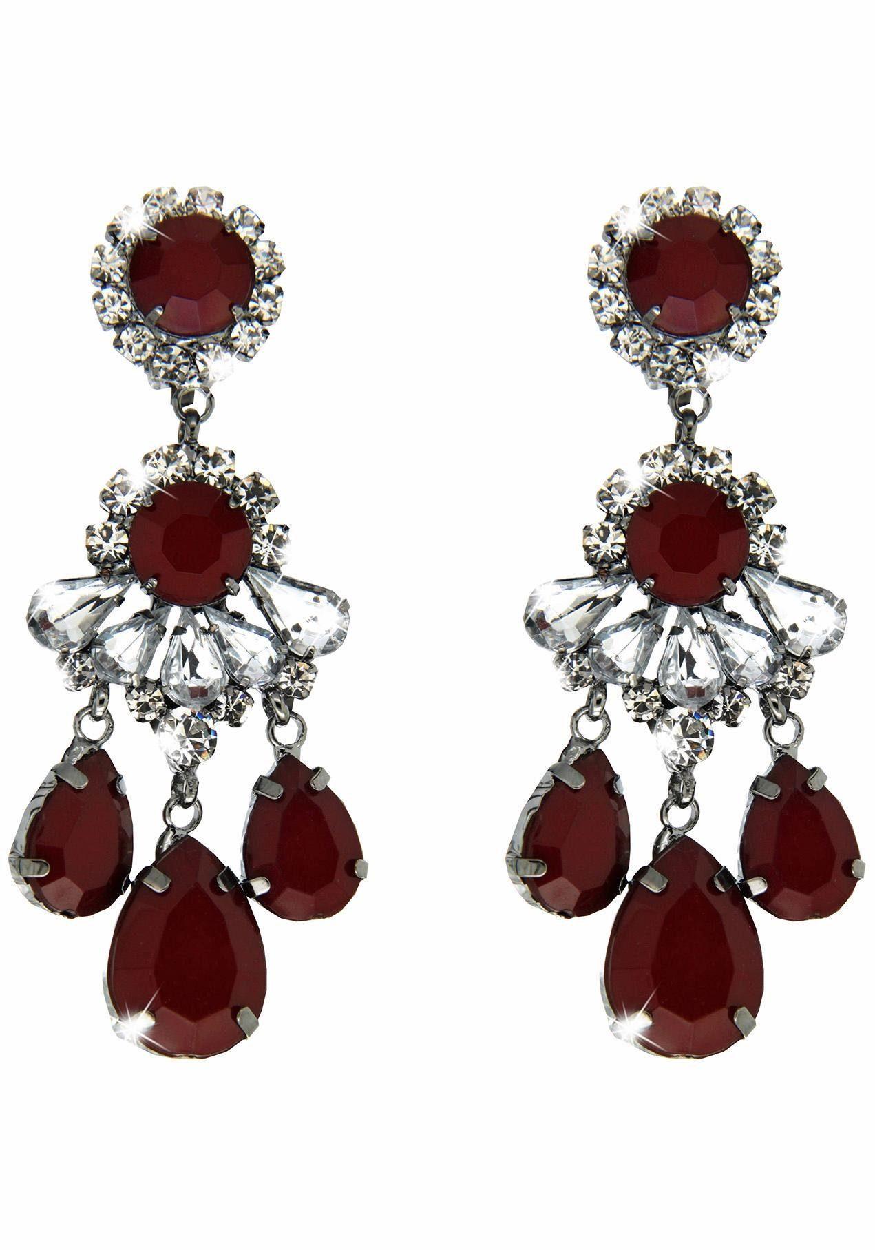 Sweet Deluxe Paar Ohrclips »Burgas I, 3958«, mit Glassteinen