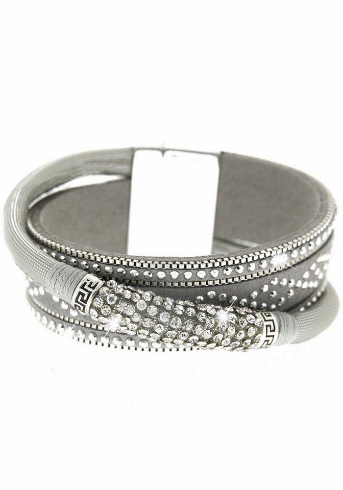 Sweet Deluxe Armband »Marisol, 5370« mit Strasssteinen in silberfarben-grau