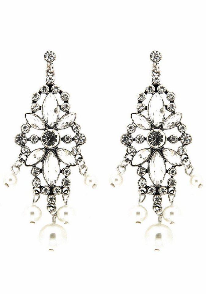 Sweet Deluxe Paar Ohrhänger »Bibiana, 6018« mit Glassteinen in silberfarben