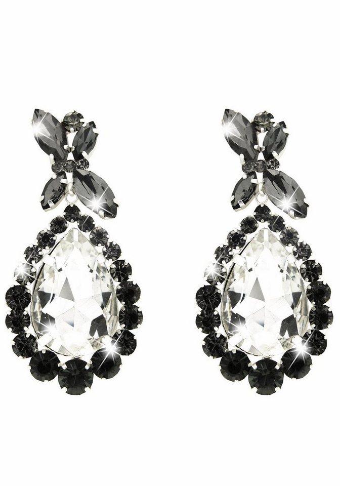 Sweet Deluxe Paar Ohrhänger »Princess Style, 5137« mit Glassteinen in silberfarben-schwarz