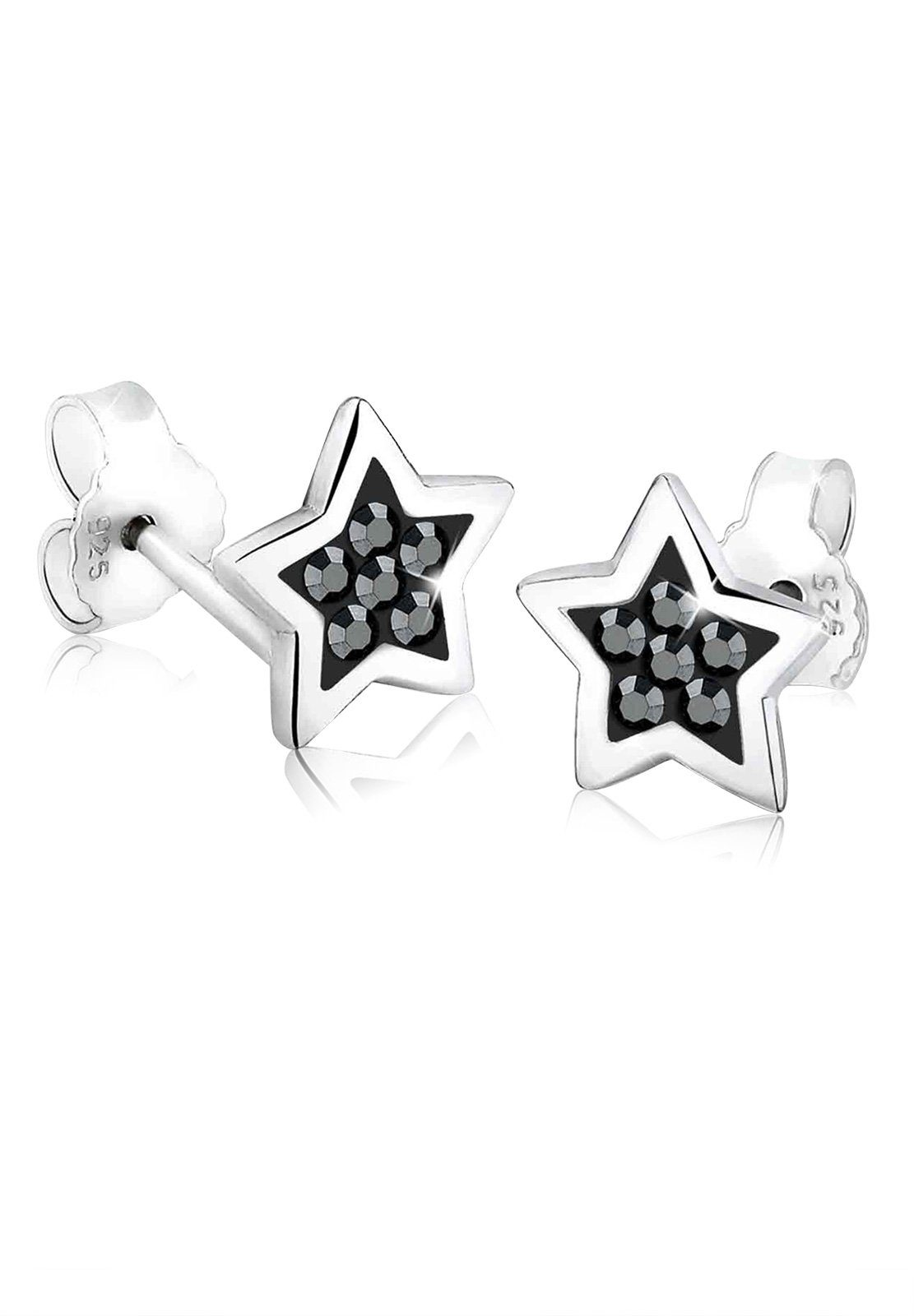 Elli Ohrringe »Stern Astro Trend Swarovski® Kristalle 925 Silber«