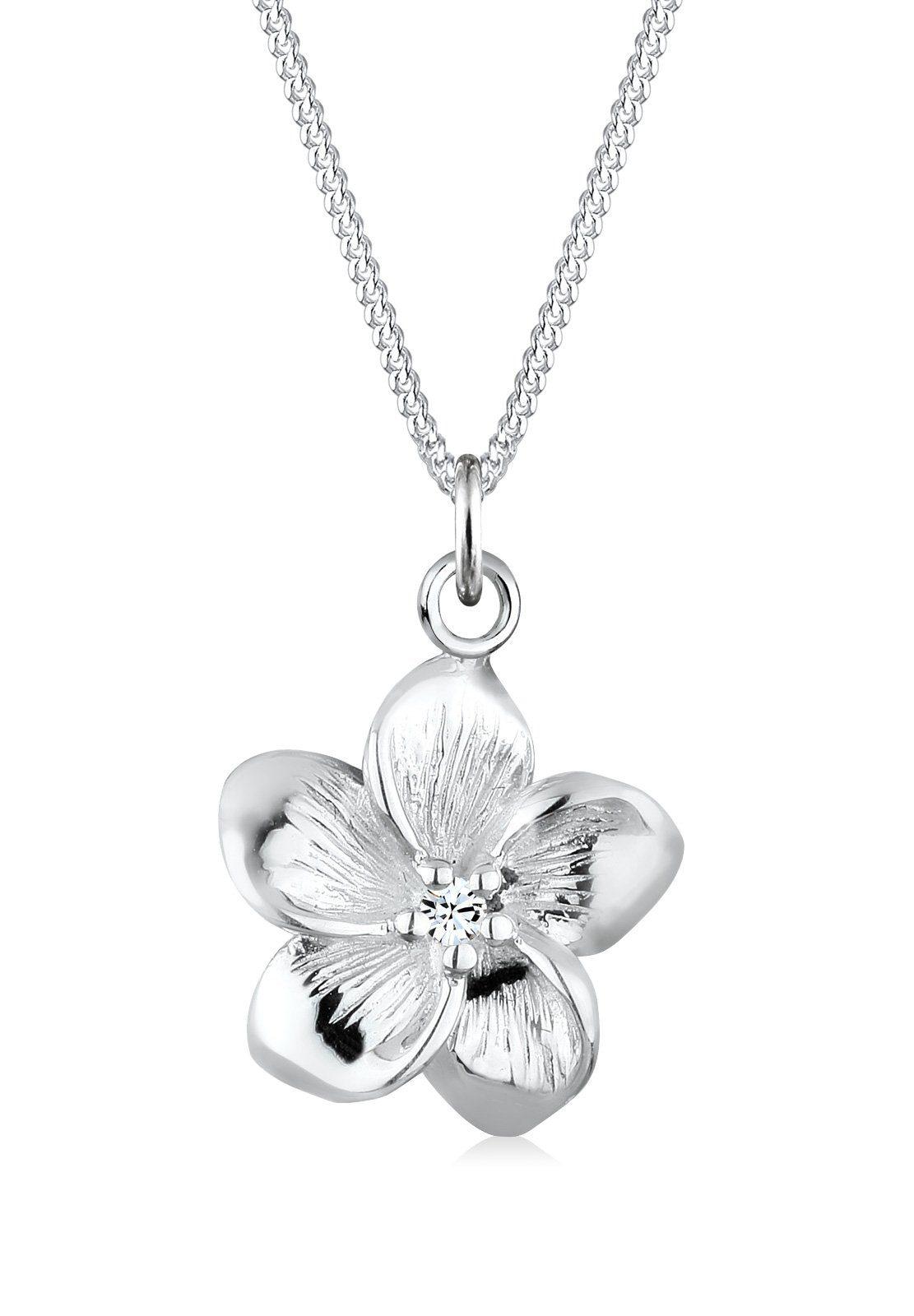 Elli Halskette »Frangipani Blüte Swarovski® Kristalle 925 Silber«