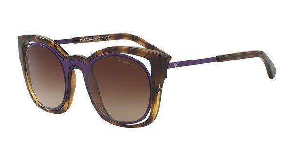 Emporio Armani Damen Sonnenbrille » EA4091« in 502613 - braun/braun