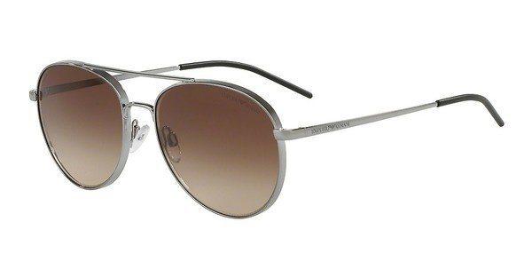 Emporio Armani Herren Sonnenbrille » EA2040« in 301013 - grau/braun