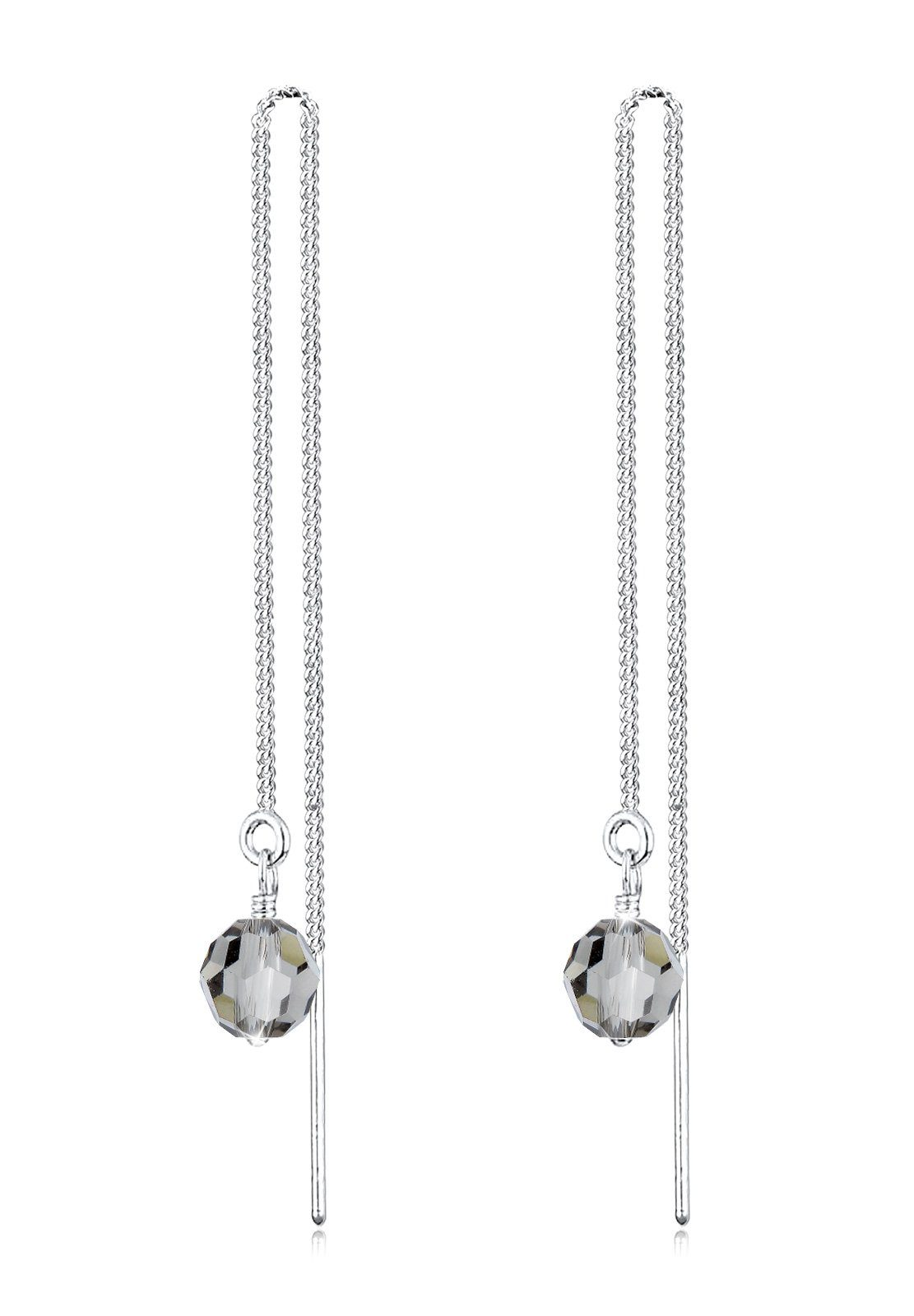 Elli Ohrringe »Swarovski® Kristalle Glamour Strahlend 925 Silber«