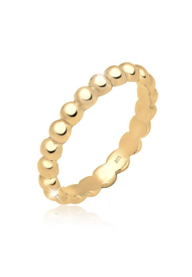 Elli Ring »Stacking Stapelring 925 Silber vergoldet« in Gold