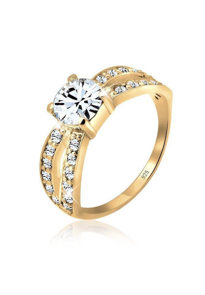 Elli Ring »Swarovski® Kristalle Silber vergoldet« in Gold