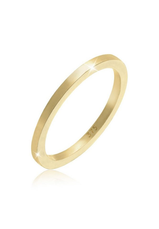 Elli Ring »Basic Ehering 375 Gelbgold« in Gold