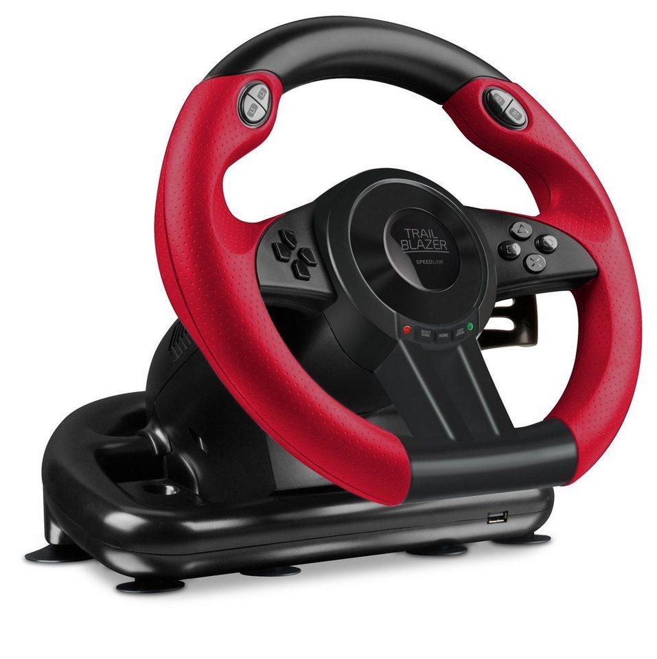 SPEEDLINK Lenkrad »TRAILBLAZER Racing Wheel für PS4/Xbox One/PS3/PC«