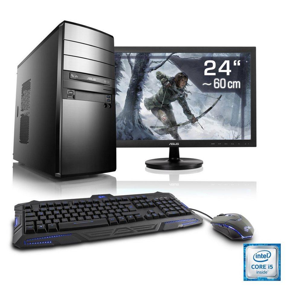 "CSL Gaming PC Set   i7-6700   GeForce GTX 1060   16 GB RAM   24"" TFT »Speed T7677 Windows 10 Home«"