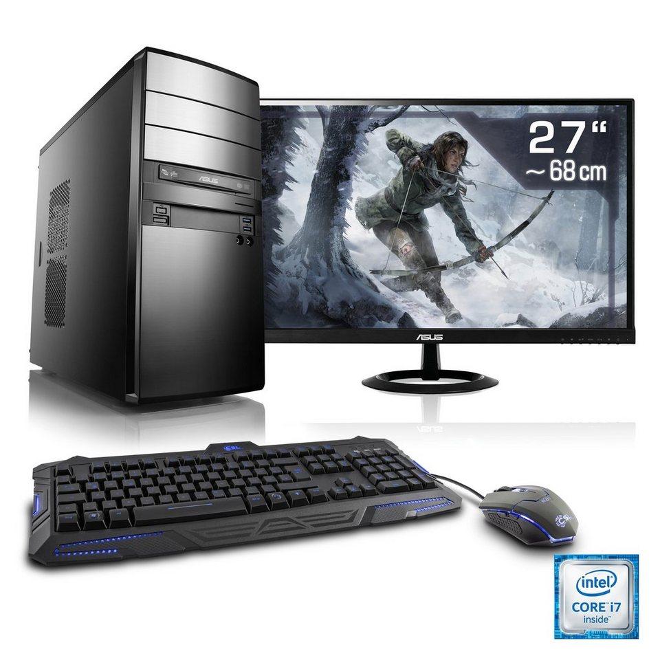 "CSL Gaming PC Set   i7-6700   GeForce GTX 1060   16 GB RAM   27"" TFT »Speed T7678 Windows 10 Home«"