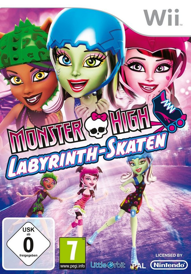 BANDAI NAMCO Software Pyramide - Nintendo Wii Spiel »Monster High: Labyrinth-Skaten«