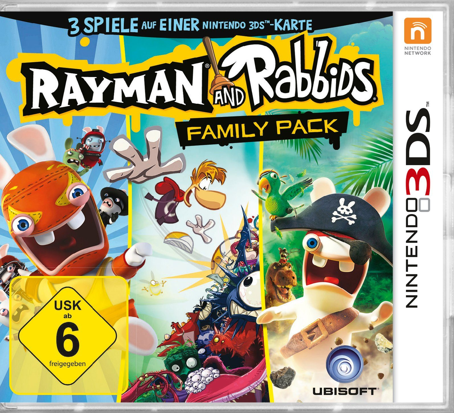 UBISOFT Software Pyramide - Nintendo 3DS Spiel »Rayman & Rabbids Family Pack«