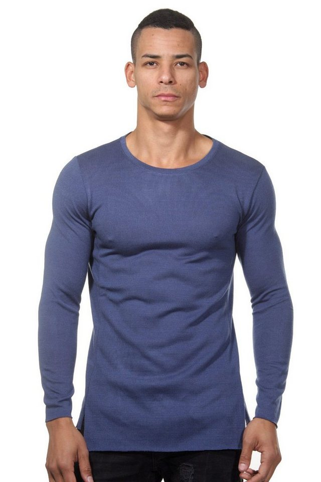 CATCH Langarmshirt slim fit in blau