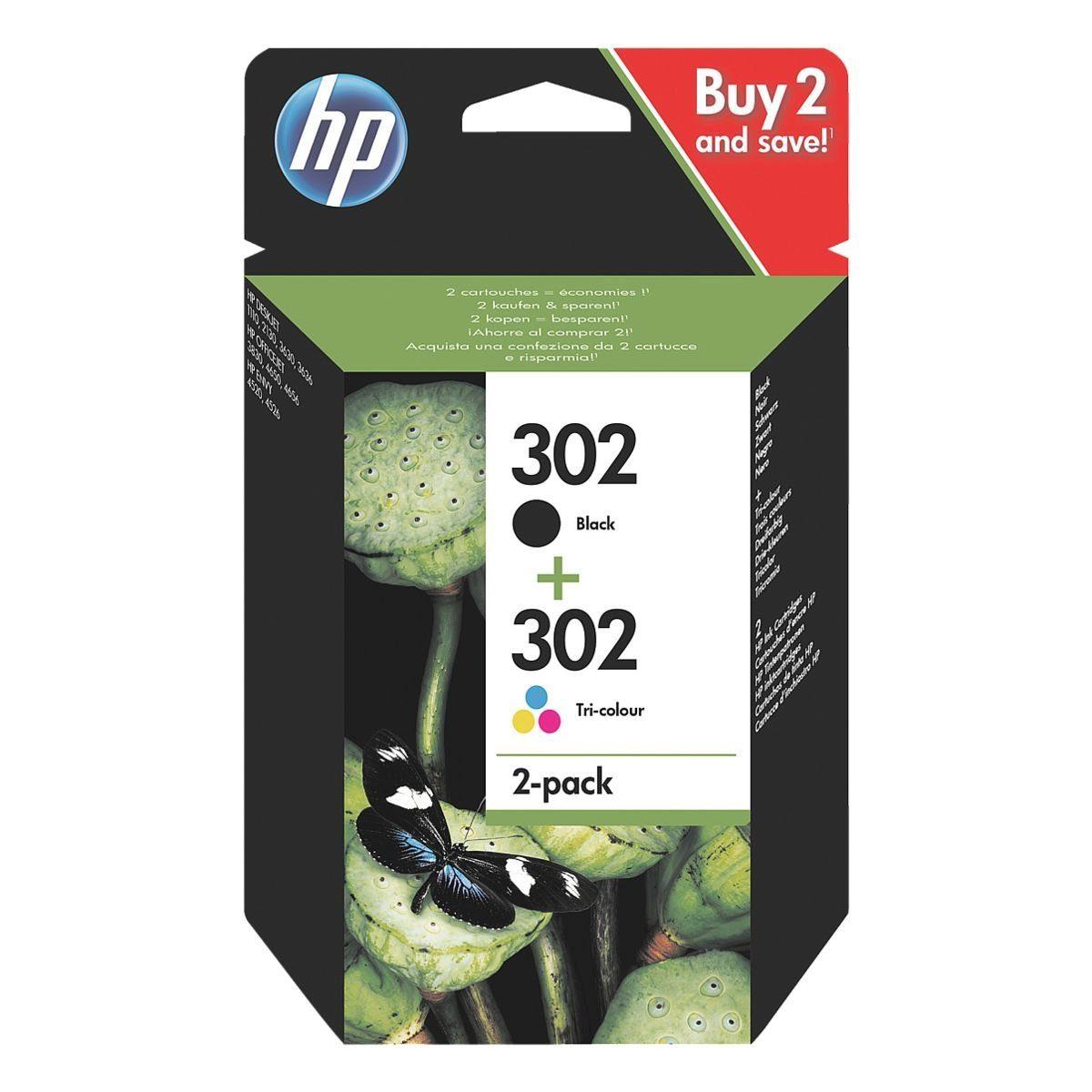 HP 2er Tintenpatronen-Set »HP X4D37AE« HP 302
