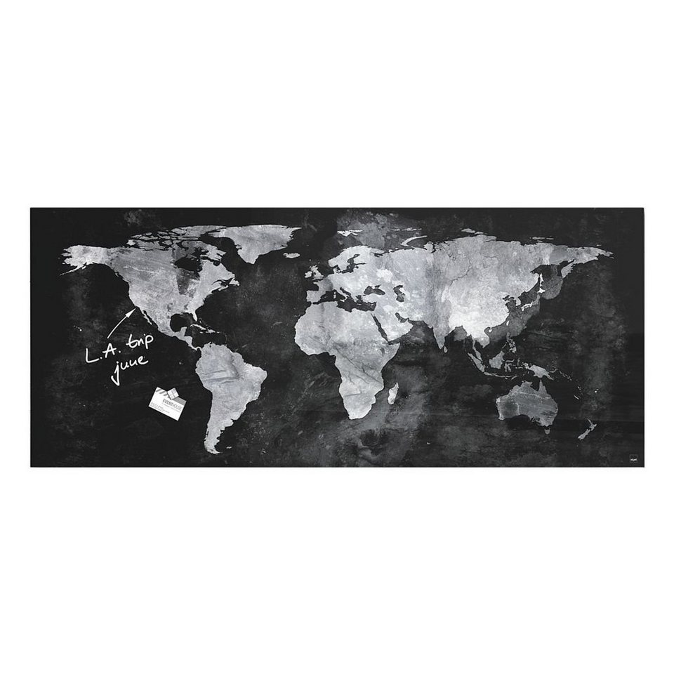 sigel premium glas magnettafel artverum world map online kaufen otto. Black Bedroom Furniture Sets. Home Design Ideas