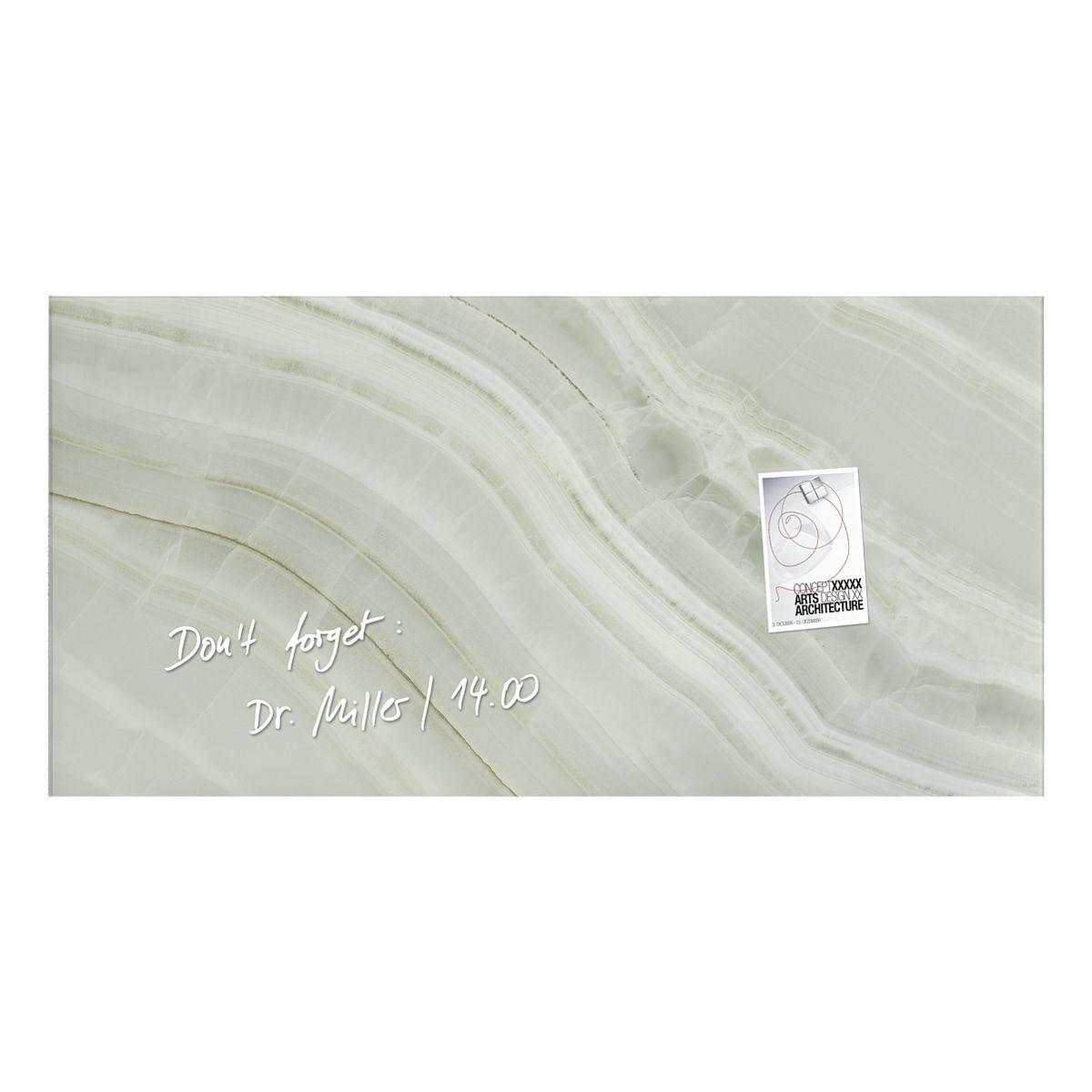 Sigel-Premium Glas-Magnettafel »artverum® Green Mineral«