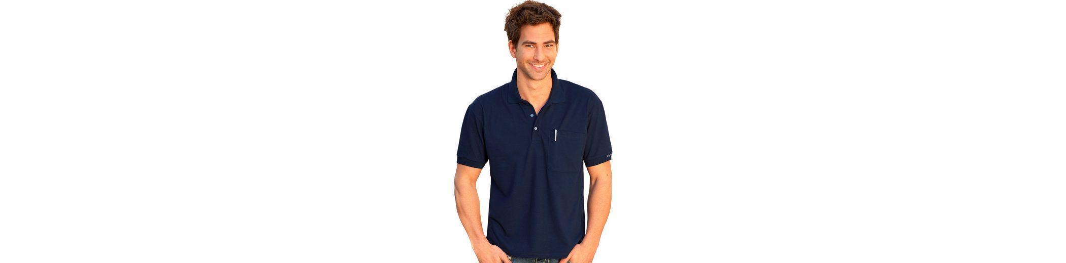 Polo Brusttasche mit TRIGEMA Shirt Polo verst盲rkter TRIGEMA qxpEOpwa