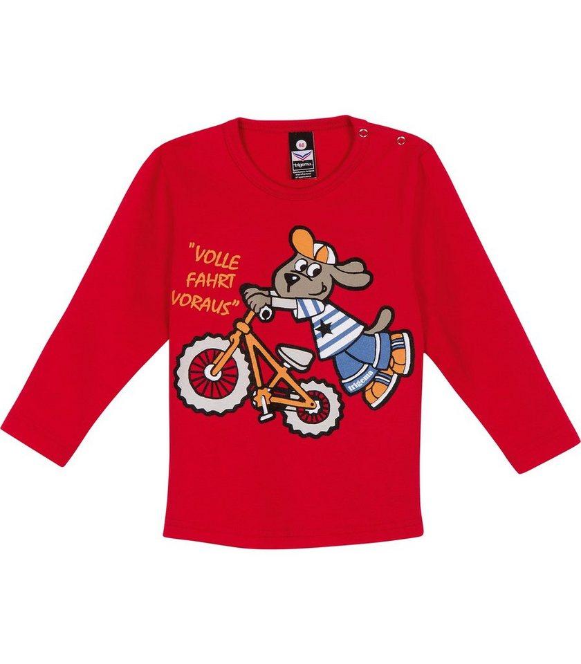 TRIGEMA Langarmshirt Fahrrad in kirsch