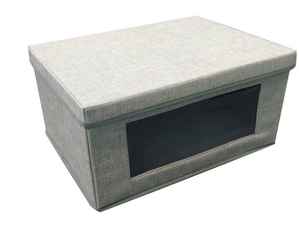 HTI-Line Aufbewahrungsbox mit Deckel »Paloma« in Grau