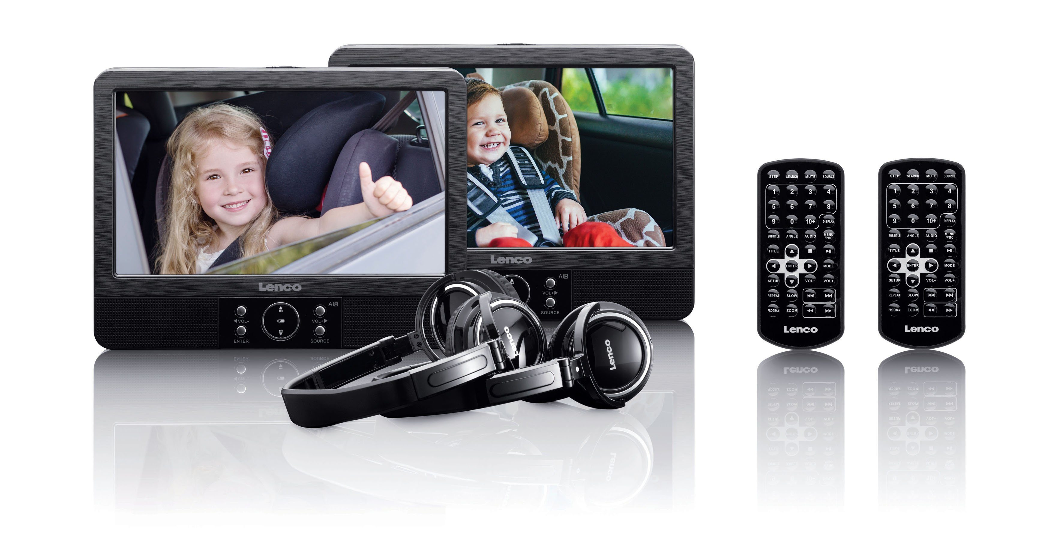 Lenco Tragbares DVD-Player Set mit Halterung per Spange »DVP-939«