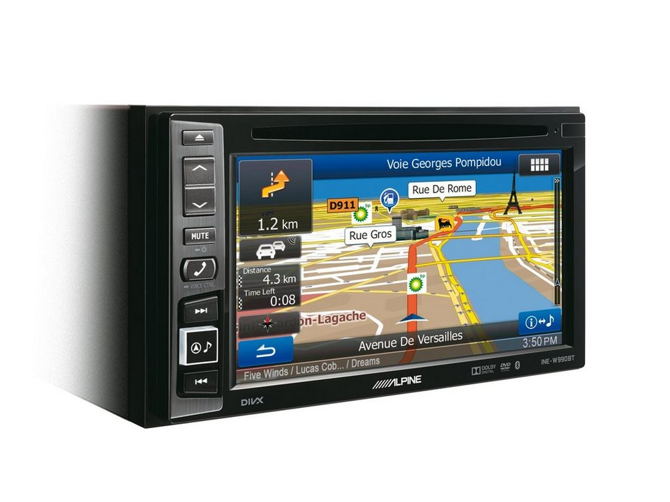 ALPINE 2-DIN Navigation »INE-W990BT« in schwarz