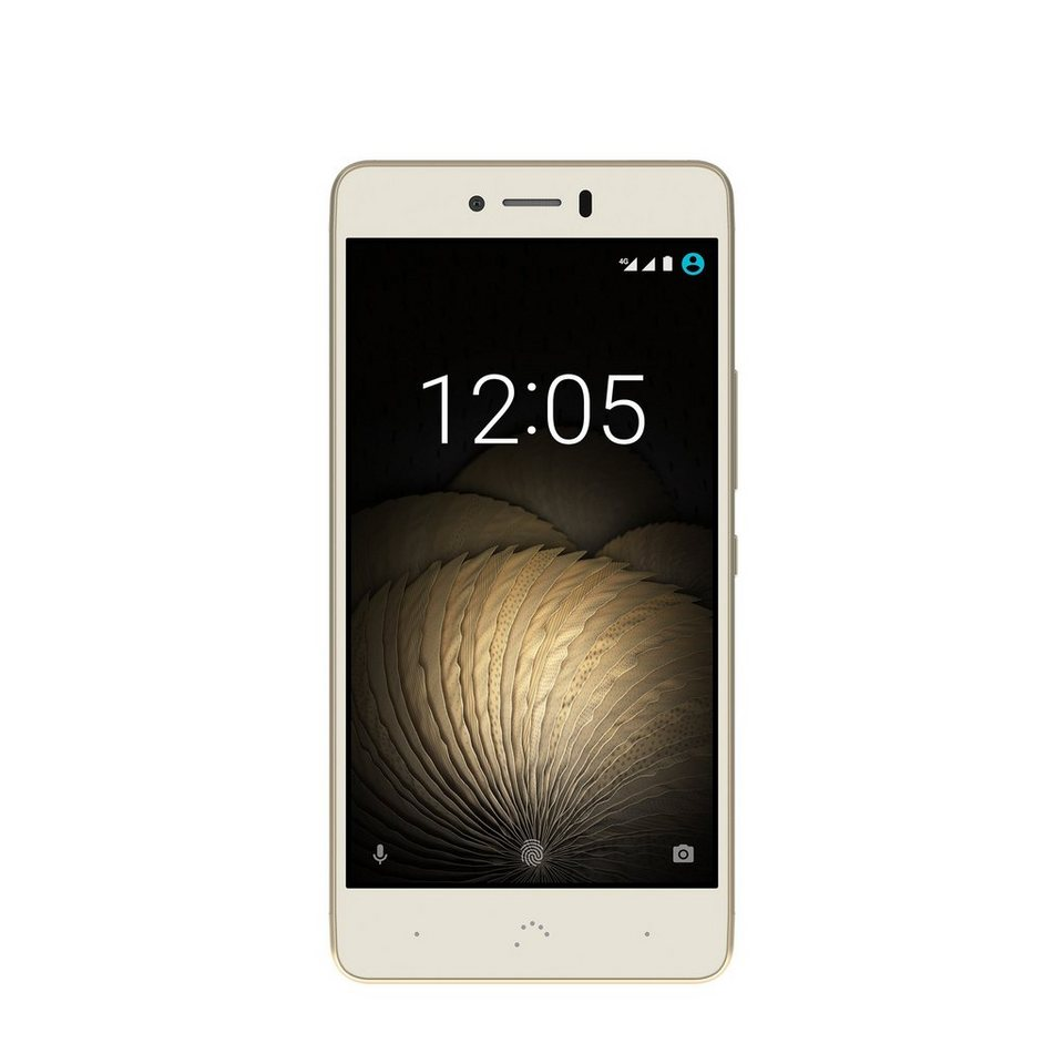 bq Smartphone mit Dual Nano-SIM »Aquaris U Plus (16+2GB)« in white/gold