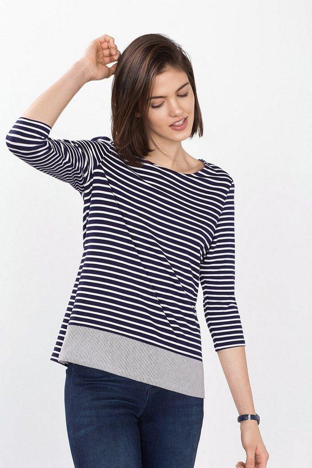 ESPRIT COLLECTION Streifenmix-Shirt aus Jersey in NAVY