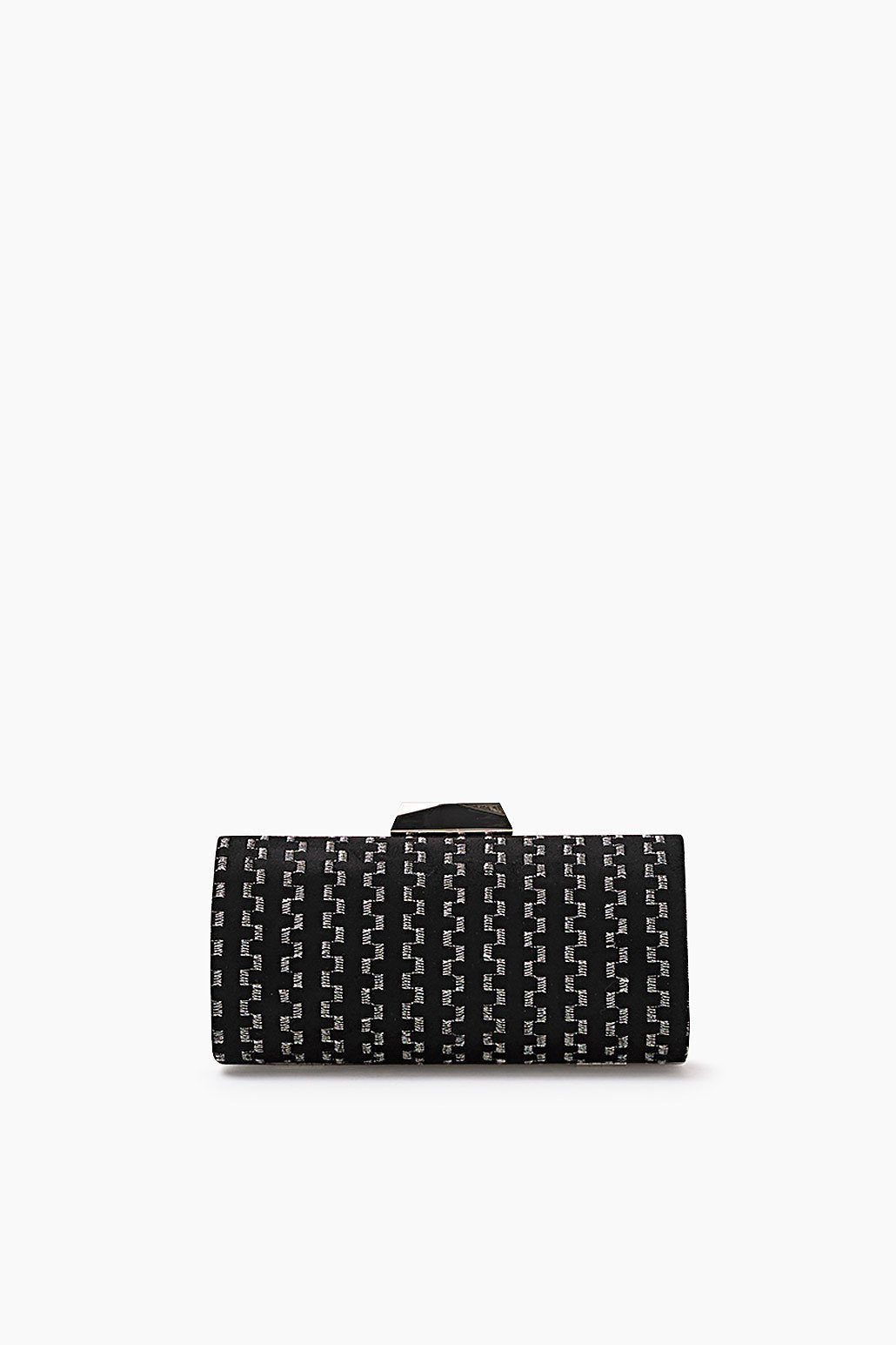 ESPRIT CASUAL Bestickte Box-Clutch aus Seiden-Mix