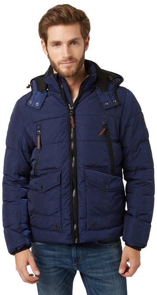 TOM TAILOR Jacke »Steppjacke mit Taschen« in true dark blue