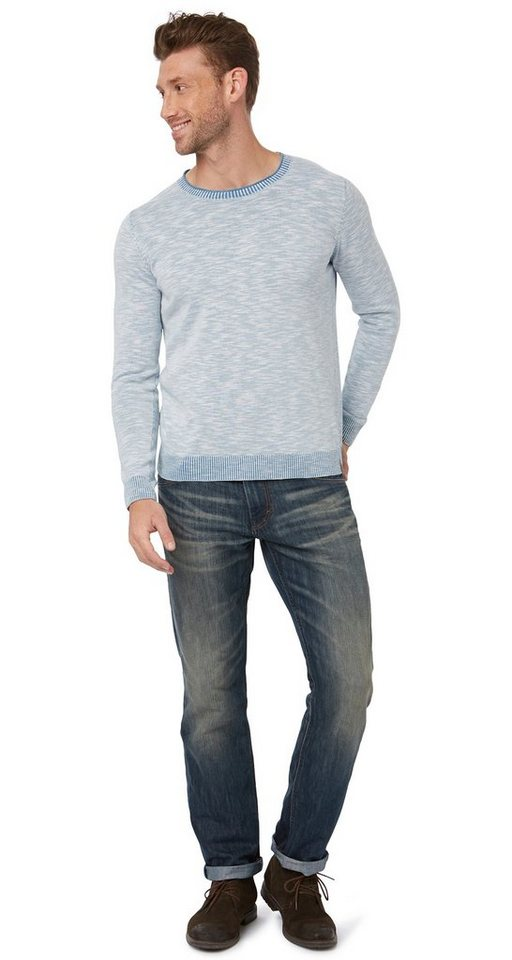 TOM TAILOR Jeans »Marvin Jeans mit Bleachings« in stone blue denim + t