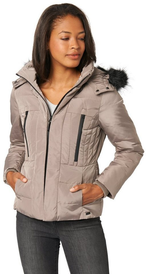 TOM TAILOR Jacke »Feminine puffer jacket« in driftwood taupe