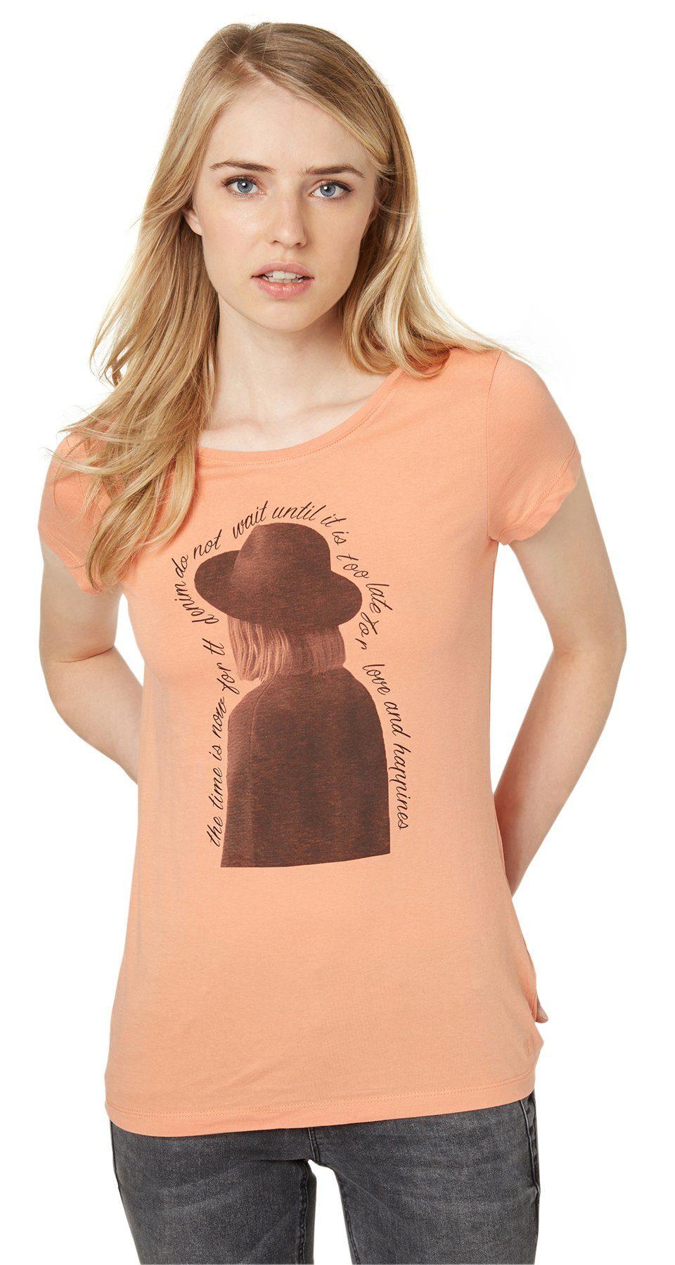 TOM TAILOR DENIM T-Shirt »T-Shirt mit Foto- und Schrift-Print«