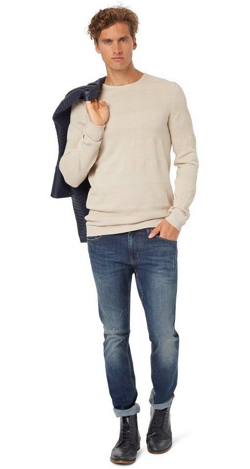TOM TAILOR DENIM Jeans »Aedan Hyperstretch Denim« in stone blue denim
