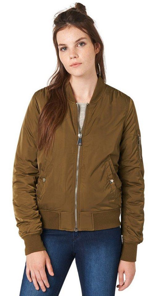 TOM TAILOR DENIM Jacke »bomber jacket« in golden olive green