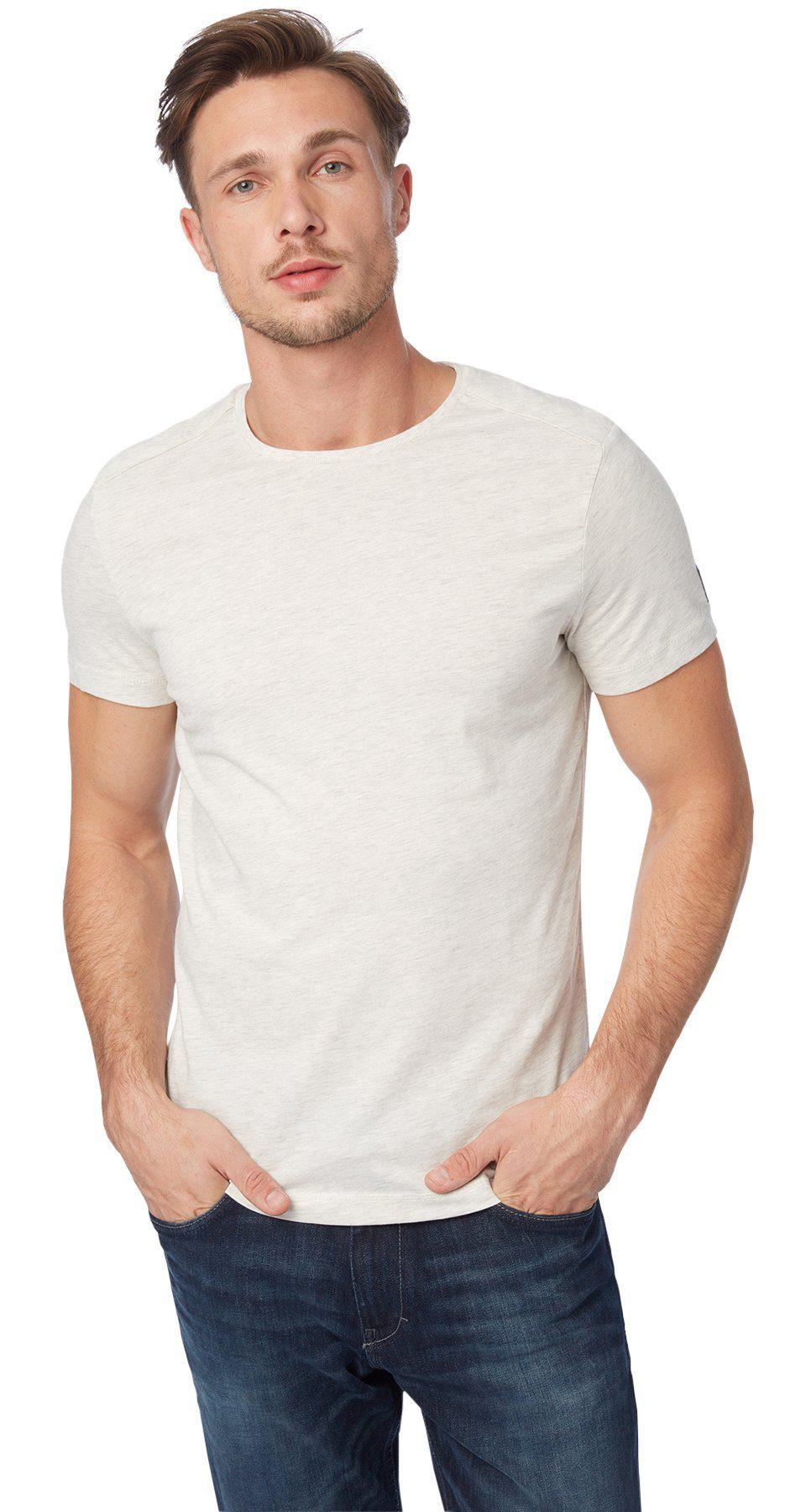 TOM TAILOR T-Shirt »Melange-Shirt mit Steppung«