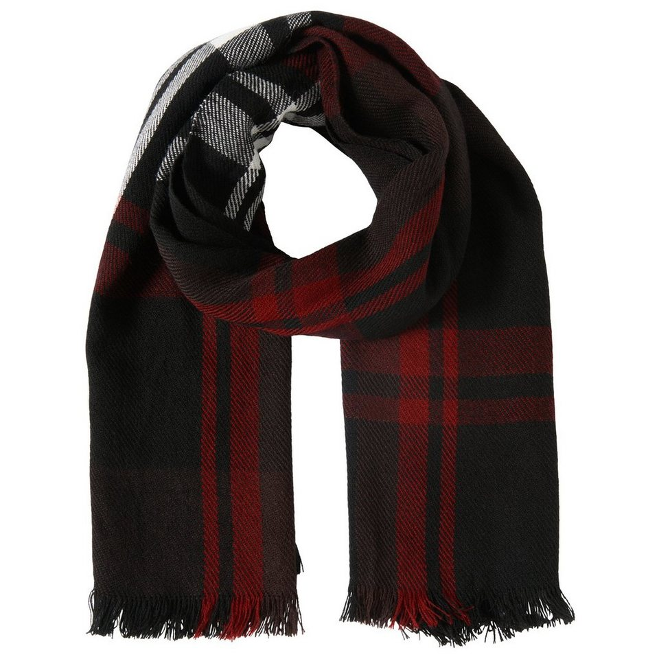 TOM TAILOR Schal »wide flannel scarf« in gipsy purple