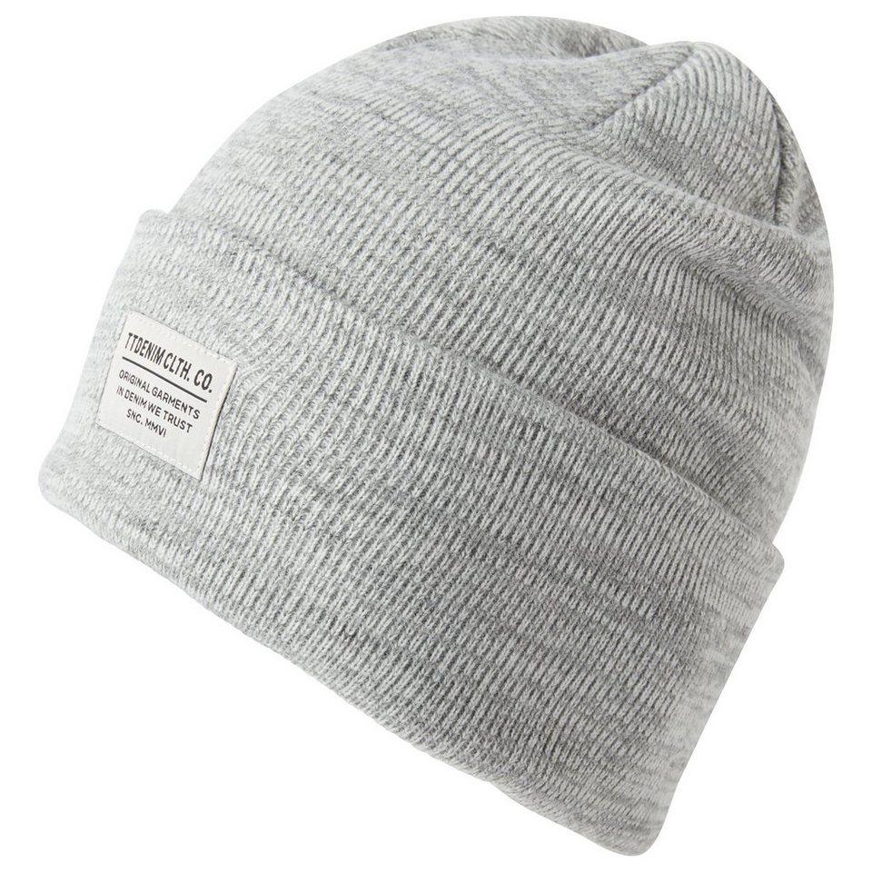 TOM TAILOR DENIM Mütze »structured mouline cap« in heather grey melange
